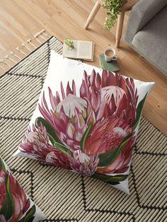 Protea bunch floor pillow Floor Pillows, Throw Pillows, Flooring, House, Ideas, Toss Pillows, Cushions, Home, Decorative Pillows
