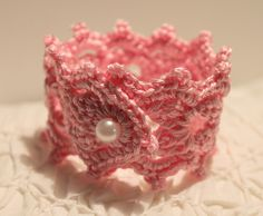 crochet pearl bracelet - just the picture