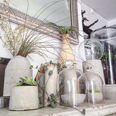 Des cache pot en béton / La décoration des internautes #Semaine 42 - 100 Idées Déco