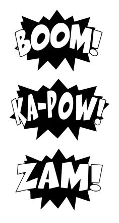 Black And White Superhero Action Words Sketch Coloring Page Plotter Silhouette Cameo, Silhouette Cameo Projects, Silhouette Design, Superhero Silhouette, 3d Templates, Stencils, Action Words, Cricut, Silhouette Portrait