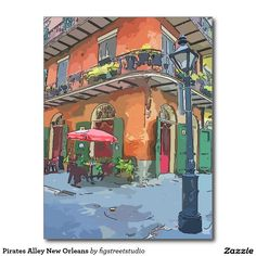 Pirates Alley New Orleans Postcard