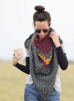 Crochet Kit - Smoky Mountains Triangle Wrap - Kits - Lion Brand Yarn