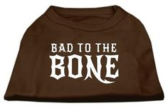 Bad to the Bone Dog Shirt Brown Med (12)
