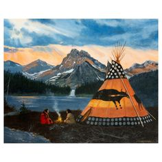 Camp On The Lake Original Oil Painting By Jerry Crandall