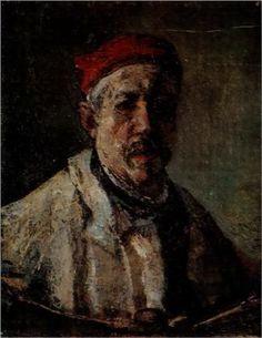 Self-Portrait With Red Bonnet - Gheorghe Petrascu Romania People, Sweet Magic, Venice Biennale, Classic Paintings, Post Impressionism, Art Database, Renoir, Art World, Modern Art