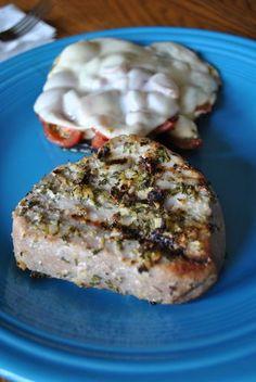 Lemon-Rosemary Grilled Yellowfin Tuna Steaks