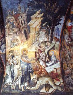 Icon of Jesus raising Lazarus - from Vatopedi monastery on Mt. Athos
