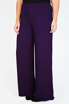 £10 sale. Purple Jersey Palazzo Trousers  Product Code: 55232