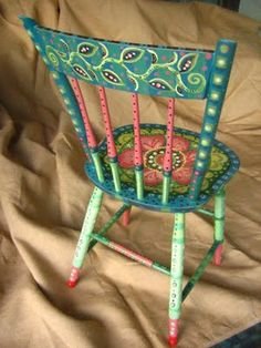 Spectacular painted chairs