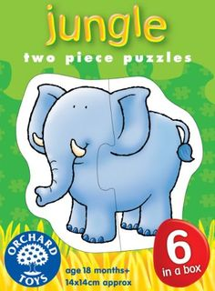 Piece together these six puzzles of appealing jungle animals. Encourage early matching skills and manual dexterity. Features: Size: W 5 H 6 Age: 18 Months+ Made in England<br/> Jungle Animals, Cute Animals, Black Friday Toy Deals, Orchard Toys, Puzzles For Toddlers, Old Love, Toy Boxes, Smurfs, Jigsaw Puzzles
