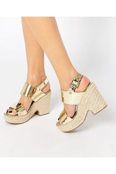 Damessandalen - ASOS TELL ALL Espadrille Wedge Sandals