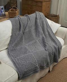 Ravelry: Checkerboard Textures Throw pattern by Katherine Eng -- 10 different stitch patterns!