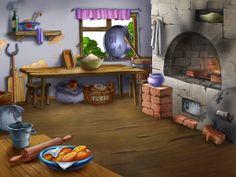 Una cocina especial Cartoon Garden, Cartoon House, Orla Infantil, Crafts For Kids, Arts And Crafts, Cottage Art, Frame Background, Three Little Pigs, Angel Art