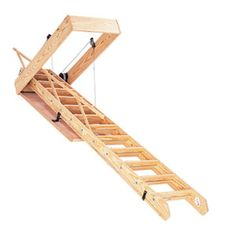 Sizing and Choosing Pulldown Attic Stairs - This Old House Folding Attic Stairs, Attic Doors, Garage Attic, Attic House, Attic Playroom, Attic Window, Attic Closet, Attic Renovation, Attic Remodel