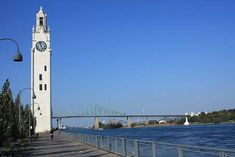 Montreal Clock Tower and Jacques Cartier Bridge, Canada Jacques Cartier, Rocky Hill, American Cemetery, Tower Stand, Reportage Photo, Old Port, Four Corners, Places To Travel, Countryside