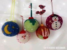 Felt Christmas, Christmas Tree Ornaments, Felted Wool, Wool Felt, December, Handmade, Felt Christmas Trees, Wool Felting, Christmas Tree Toppers