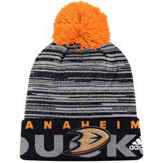 76f7c4b42d0 Anaheim Ducks adidas Youth Team Logo Cuffed Knit Hat with Pom - Black  Adidas Men