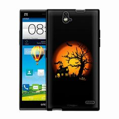 ZTE Grand X Max Haunted House on Black Trans Case