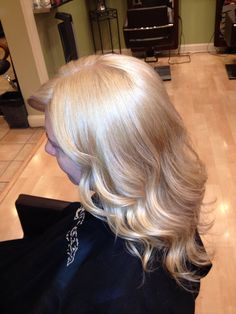 Double Process Blond and styling by Dana at Bellezza Salon & Spa.