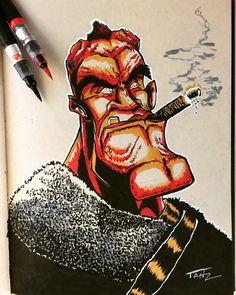 Deadpool, Sketches, Illustrations, Superhero, Fictional Characters, Art, Drawings, Art Background, Illustration