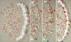 パフスリーブワンピース(リカちゃん) 「パプペポ」着せ替え人形の手作り服の作り方
