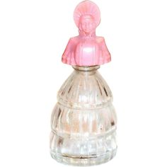 Miniature 1930's Victorian Style Lady Shaped Perfume Bottle