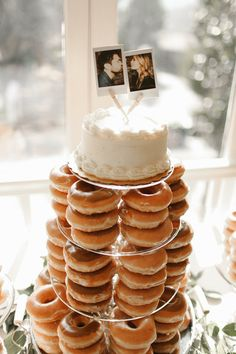 Doughnuts instead of a wedding cake!