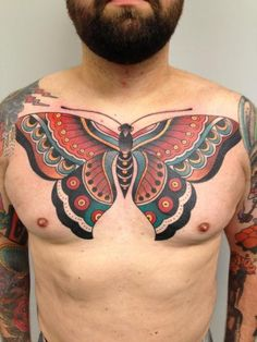 7dccfd82cd210 36 best Butterfly Tattoos On Chest images in 2017 | Chest Tattoo ...