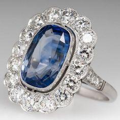 carat light blue sapphire & diamond vintage halo ring blue sapphire in 20 Vintage Engagement Rings, Vintage Rings, Diamond Engagement Rings, Disney Engagement, Halo Engagement, Light Blue Sapphire, Sapphire Diamond, Sapphire Rings, Diamond Rings