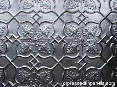 Pressed tin wallpaper from Folder of Ideas: Offspring - Nina's wall