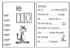 Teaching Emotions, Teaching Phonics, Teaching Aids, Grade R Worksheets, Preschool Worksheets, 2nd Grade Spelling Words, Afrikaans Language, Sight Words, School Projects