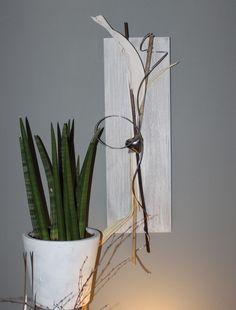 Luxury Wanddeko aus neuem Holz gebeizt und wei geb