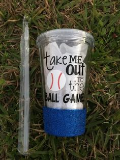 Take Me Out to the Ball Game-Glitter Tumbler
