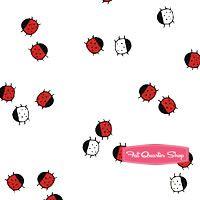 The Red Thread White Ladybug Dots Yardage SKU# 5908-L
