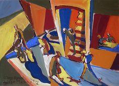 """Calle 4 """", acrylic on canvas, 28 x 44 cm. 1998"""
