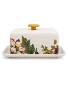 Joules null Butterdish, CRMFLRL.                     Keep your butter looking its best with this rather dishy dish. Perfect for when you need good butter at the spready.
