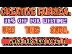 Creative Fabrica Discount 2020 | Best Graphic website | 30% OFF Lifetime Discounted | Iamagainhere - YouTube Coding, Neon Signs, How To Get, Website, Creative, Youtube, Youtubers, Programming, Youtube Movies