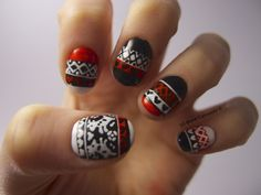 Wow I suppose I could try this, but it'll take foreverrr! Love Nails, How To Do Nails, My Nails, Creative Nail Designs, Creative Nails, Holiday Nails, Christmas Nails, Diy Christmas, Nail Polish Designs