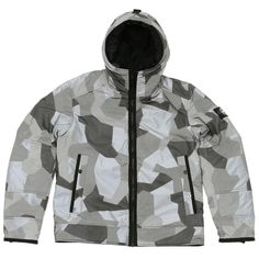 Stone Island M90 Camo Reflective Jacket (Grey)