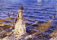 Girl Fishing at San Vigilio by John Singer Sargent