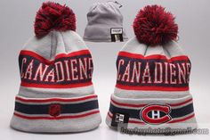5d0d467545c Montreal Canadiens Beanies Knit Hats Warm Winter Caps Gray Red