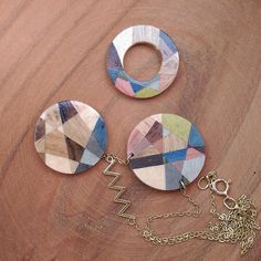 #vuuvworks  #marquetry Marquetry, Handcrafted Jewelry, Washer Necklace, Create, Accessories, Handmade Chain Jewelry, Handmade Jewelry, Handmade Jewellery, Jewelry Accessories
