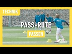 Fussballtraining: Die Pass-Rute - Passen - Technik - YouTube