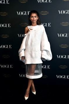 """Zendaya attends the Vogue 95th Anniversary Party on October 3, 2015 in Paris, France """""""