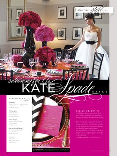 Really loving these vibrant colors :) Kate Spade inspired wedding