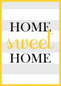 Pôster Home Sweet Home, toda casa devia ter um desses pendurado na parede.    Poster impresso em papel couchè 300gr. Sem Moldura.  Tamanho A4.    Sua parede merece essa alegria.    FRETE GRÁTIS