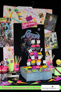 Totally Awesome 80's Neon Birthday Party Ideas and party printables! I am using so many of these ideas!