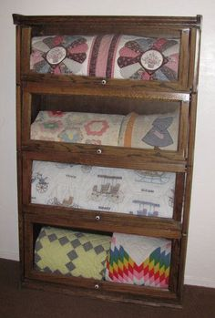 how someone displayed her Grandmothers' Quilts