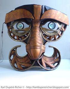 Alchimiste sculpture by Karl Dupéré-richer  #sculpture #steampunk
