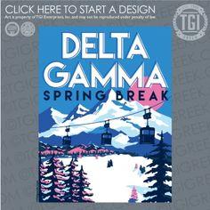 Delta Gamma   ΔΓ   Spring Break   Spring Break Shirt   TGI Greek   Greek Apparel   Custom Apparel   Sorority Tee Shirts   Sorority T-shirts   Custom T-Shirts